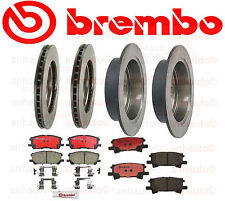 Lexus RX330 7/04-06 Front + Rear Brake Rotors with Brake Pads Kit Brembo