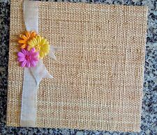 Woven Cover Scrapbook/Album with Gerber Daisy Decoration - NEW