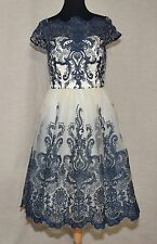 CHI CHI LONDON LACE DRESS MODCLOTH EXQUISITE ELEGANCE  NAVY/IVORY SZ 24 FITS 2X