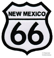 NEW MEXICO ROUTE 66 EMBROIDERED PATCH - IRON-ON APPLIQUE Highway Road Sign Biker