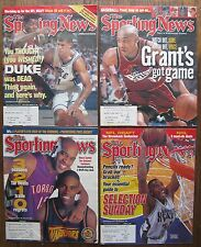 (4) The Sporting News Magazines with Basketball Covers 2000-2001