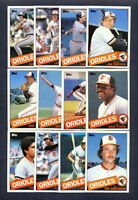 1985 Topps Baltimore Orioles TEAM SET + Traded