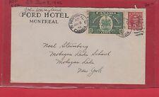 Ford Hotel Montreal Special delivery cover 1942, Canada