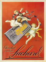 VINTAGE ART POSTER CHOCOLATE SUCHARD by Leonetto Cappiello Chocolat  24x32 Print