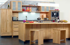 Massivholzküche Kirsche, geölt mit glatter Front