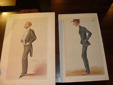 Vintage Litho 2 Vanity Fair Men Aug. 30, 1879 Vincent Brooks Day & Son Sgnd. Spy