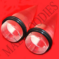 "0633 Acrylic Clear Stretchers Tapers Expanders 3/4"" Inch 20mm Plugs"