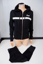 PINK Victorias Secret Black Hoodie &  Capri Legging Size Small S Uk 8, 2 Piece