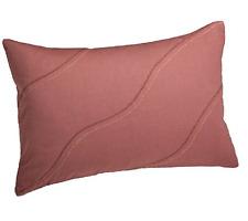 "New Calvin Klein Home Melrose Curve Stitch 12""x16"" Decorative  Pillow Blush $85"