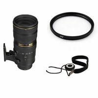 Nikon AF-S 70-200mm f/2.8G ED VR II Lens w/77mm UV Filter & Lens Cap Keeper