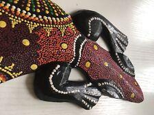 GUADELOUPE - Grande salamandre en bois peint - TBE cd91e761003