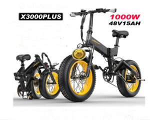 Electric Bike 1000W 4.0 Fat Tire Foldable Ebike 48v MountainBike Scooter 100km