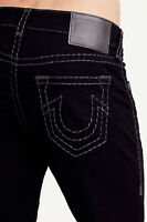 True Religion Men's Rocco Super T Skinny Fit Stretch Jeans in Dark Inglorious