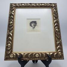 Vintage Framed Rembrandt Self Portrait Etching