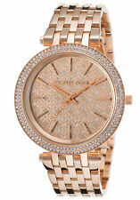 Michael Kors MK3399 Women's Darci Crystals on Bezel & Dial Rose Gold-tone Watch