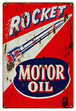 """Reproduction Rocket Motor Oil Sign. 12""""x18"""""""