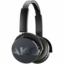AKG Y50 Black Foldable Headphones In-line Mic Carry Pouch