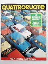 Rivista Quattroruote N. 193 Gennaio 1972 Editoriale Domus Renault 124