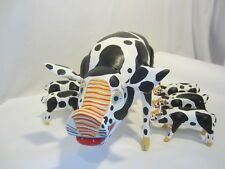 OAXACAN wood carving PIG and 6 calves Vicente Hernandez Vasquez MEXICO