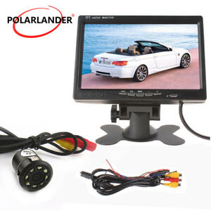 """7"""" TFT Color DVD VCR Monitor 18.5mm 8LED perforated with lamp Reversing Camera"""