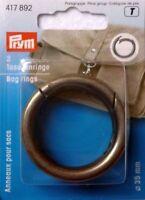 Prym 2 Taschenringe mit Karabineröffnung 35mm altsilber 417892