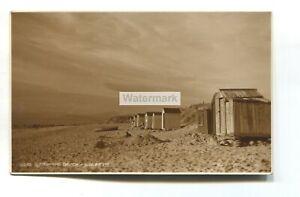 Llandanwg Beach and huts - c1930's Merionethshire postcard