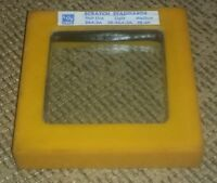 Libbey-Owens-Ford TOLEDO OHIO FACTORY SCRATCH STANDARDS inspection glass YELLOW