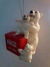 Coca-Cola Polar Bear & Cubs Icebox Ornament