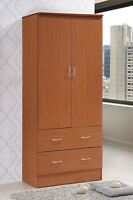 Armoire Wardrobe Closet Storage Cabinet Bedroom Clothes Organizer Wood Furniture