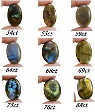 54ct-88ct Rare Natural Rainbow Sheen Labradorite Oval Cabochon Loose Gemstones