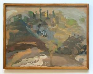 Mane Katz -Original Gouache Landscape, circa mid 20th century