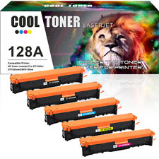 5 Pack Set for HP 128A CE320A Color Toner LaserJet Pro CM1415fnw CP1525 CP1525nw