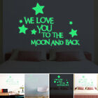 Glow In The Dark Luminous We Love You All Wall Stickers Ceiling Bedroom Deco