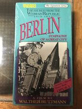 Berlin Symphony of a Great City Walther Ruttman sealed VHS NTSC Bonus Short Opus