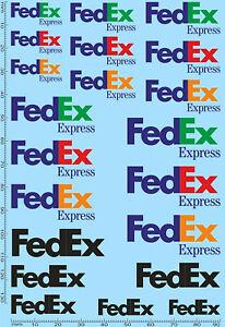 FedEx Express Paketdienst Sponsoren Bogen LKW Trucks 1:43 Decal Abziehbilder