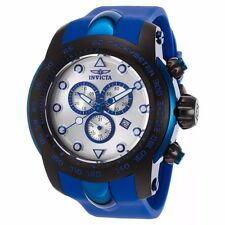 INVICTA MEN'S PRO DIVER CHRONOGRAPH SILVER DIAL BLUE SILICONE BAND WATCH 17809