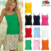 Fruit of the Loom Lady-fit Strap Tee - Women's Cotton Vest Casual Tank Top