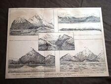 Esplorazione Bove e Lovisato alla Tetta del Fuoco nel 1887 Gennargentu Sardegna