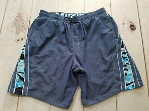 Speedo Men's Swim Trunks Board Shorts Blue Mesh Color Size 34