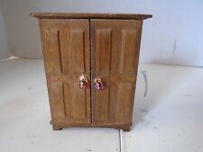 Wardrobe Closet Desk Doll Furniture Armoir Wood Miniature Victorian Storage