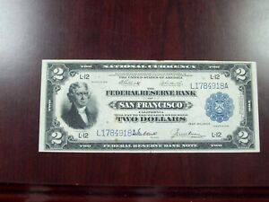 1918 $2 San Francisco  National Currency Note  (F-779)