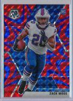 ZACK MOSS - 2020 Mosaic BLUE Mosaic Rookie SP - Buffalo Bills RC