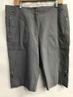 🌴NWT Jamie Sadock Women's Size 16 Gray Chino Shorts $77🌴