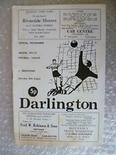 1971/72 DARLINGTON v BRENTFORD, 28th Aug