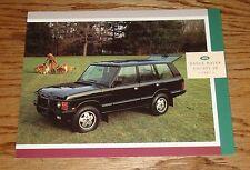 Original 1991 Land Rover Range Rover County SE Foldout Sales Brochure 91