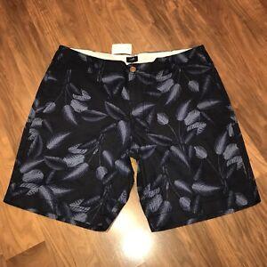 NWT J.CREW Shorts Men's 38 Navy Floral Print Hawaiian Linen Cotton beach NEW