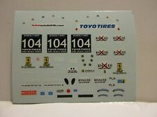 DECAL FERRARI 430 24H DUBAI 2009 #104 RISI COMPETIZIONE TECNOMODEL 1/43