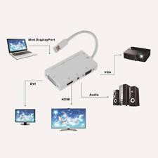 1080P Mini Displayport DP Male to HDMI DVI VGA Audio Female Adapter Cable #A