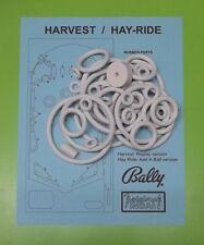 1964 Bally Harvest, Hay-Ride / Hayride pinball rubber ring kit