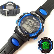 Kids Teens S-Sport Digital LED Wrist Watch With Time Date Alarm Stopwatch